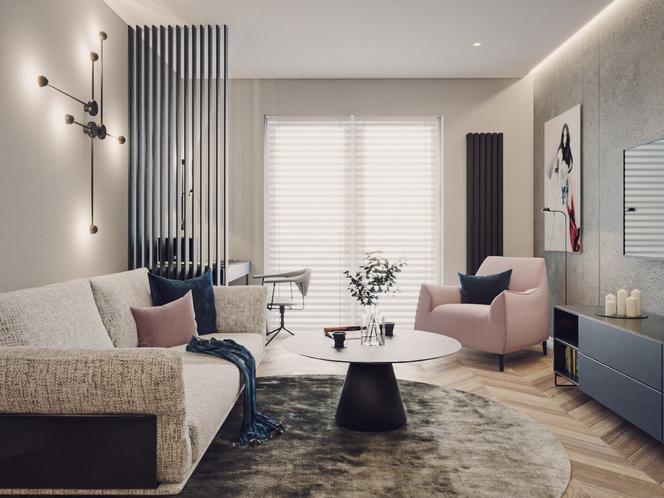 Miejski minimalizm, czyli salon w wersji drugiej